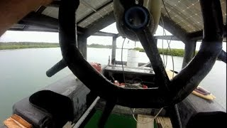 Construction Boat 0072 New Motor Position and Steering Testes