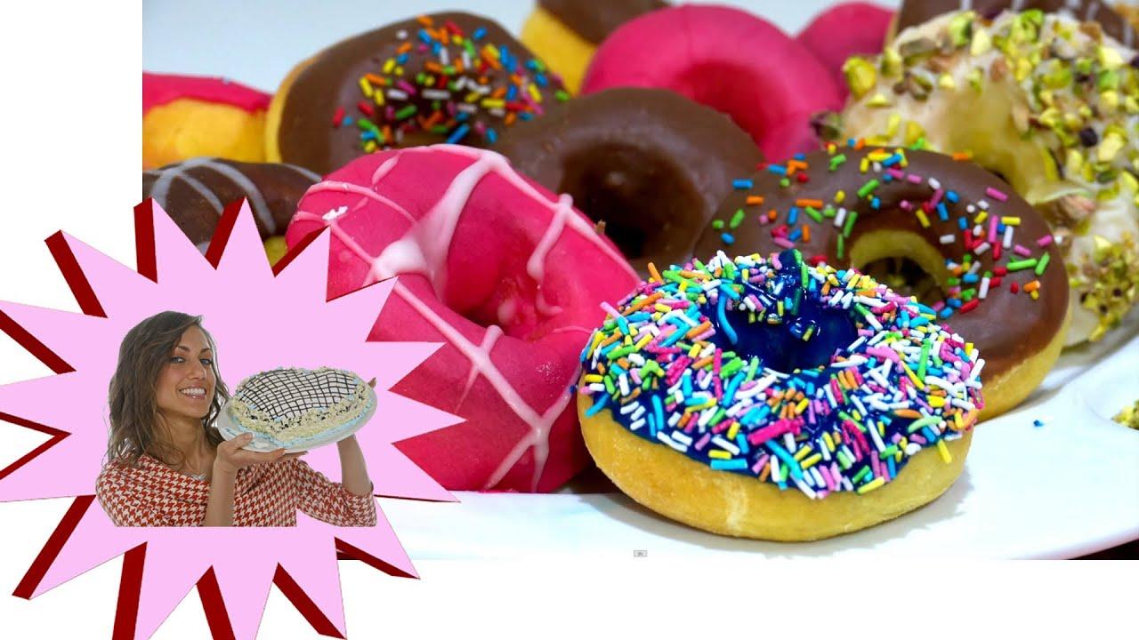 Donuts Non Fritti , Ciambelline Light , Le Ricette di Alice
