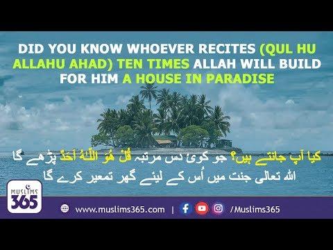 "Surah Al Ikhlas (Qul Huwallahu Ahad) Explained With Visuals | Abdul Basit Voice | Muslims365"""