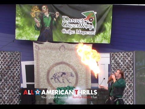 Six Flags New England - Daniel Greenwolf Celtic Magician In HD