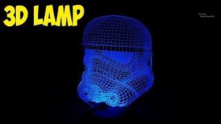 3D Настольная лампа  Классная вещь или дно???