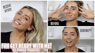 CHIT CHAT LOL GET READY WITH ME! Cream Makeup Only! | Lauren Elizabeth