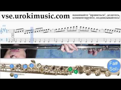Как играть на флейте Sia - Cheap Thrills Табы часть 1 um-i821