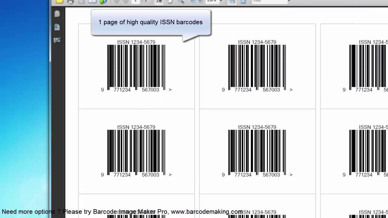 ISSN barcode generator