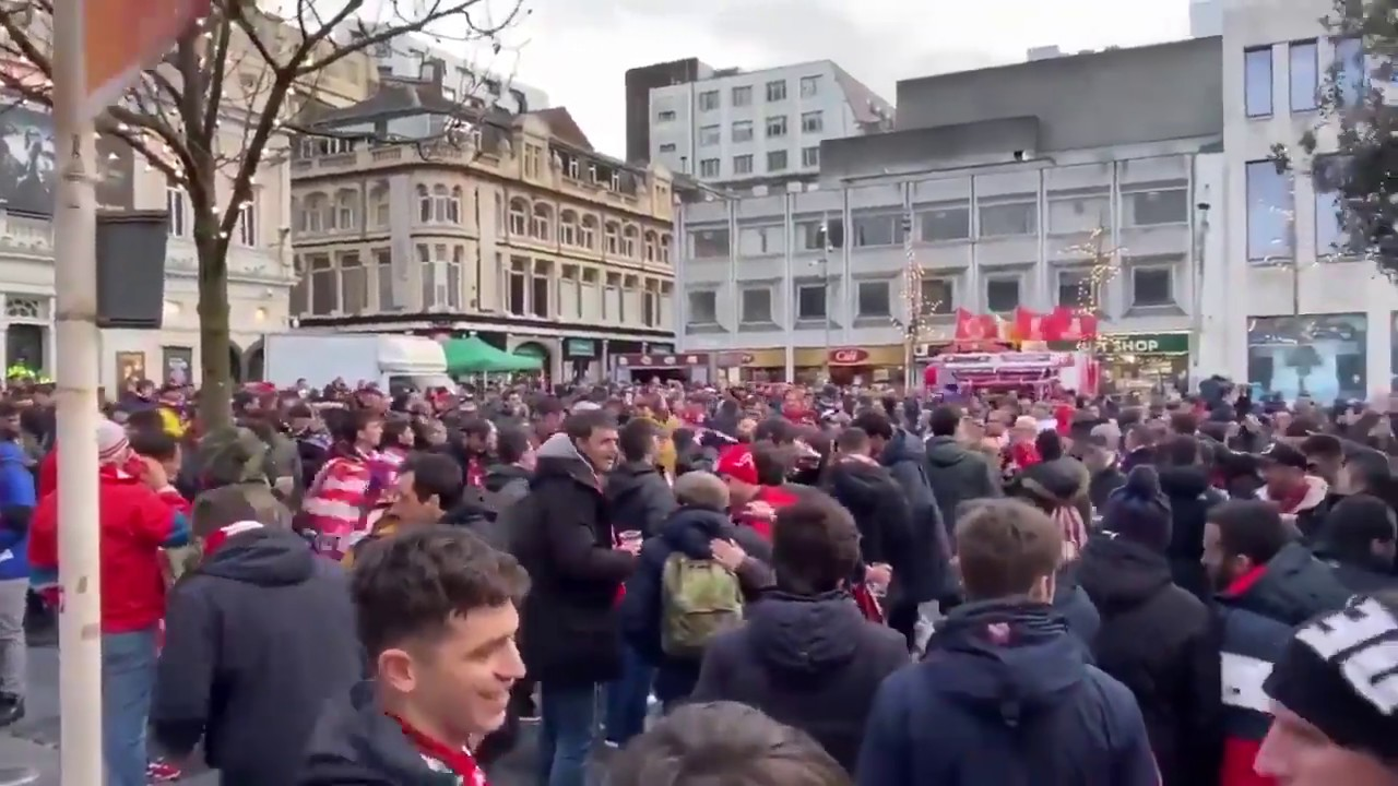 Thousands of Atletico Madrid fans have arrived in Liverpool #LIVATL #ChampionsLeague