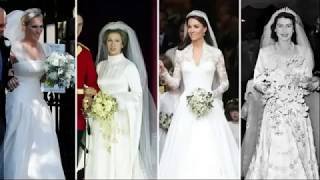 Royal Wedding Dresses Through The Years Queen Elizabeth II to Kate and Meghan