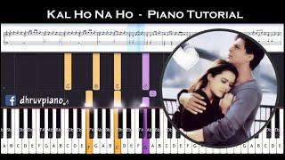 ♫ KAL HO NA HO (Heartbeat) || 🎹 Piano Tutorial + Sheet Music (with English Notes) + MIDI