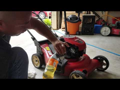 Lawnmower won't stay running???  Clean the carburetor.