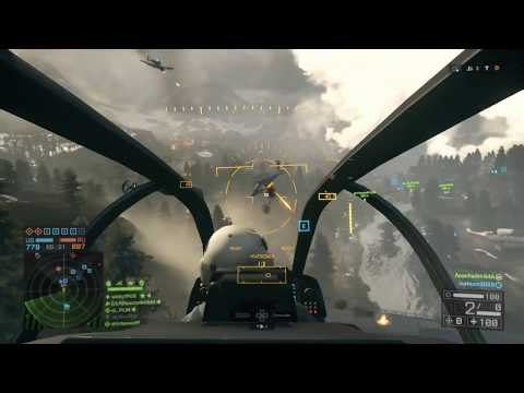 Battlefield 4 (PS4): AH-1Z Viper Attack Helicopter With Hydra Rockets Gameplay