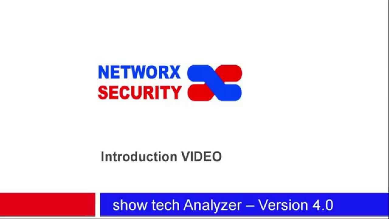 show tech Analyzer 4 0 Introduction