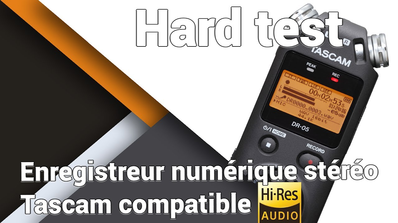 assez bon marché prix modéré conception adroite Enregistreur audio Tascam DR-05 v2 - Présentation / Test / Avis / Review