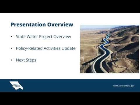 SLO County Provides Comprehensive Update on State Water Project