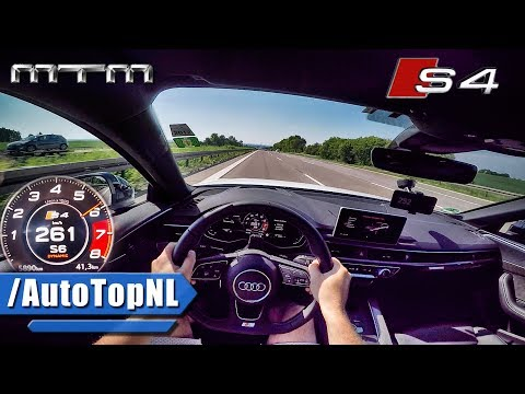 2017 Audi S4 MTM ACCELERATION & TOP SPEED 425HP AUTOBAHN POV by AutoTopNL