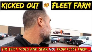 Trying to film a Last minute guide on the best tools for gifts- we get kicked out of fleet farm