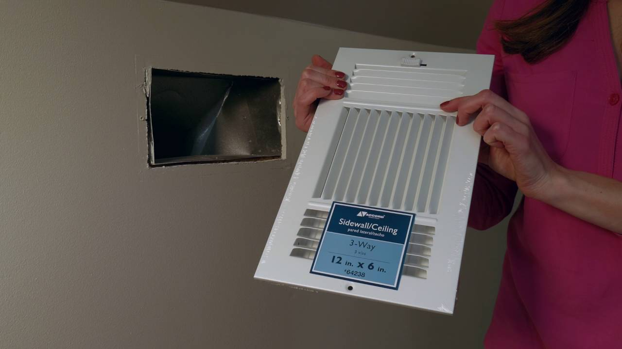 How To Measure A Sidewall Ceiling Register Youtube