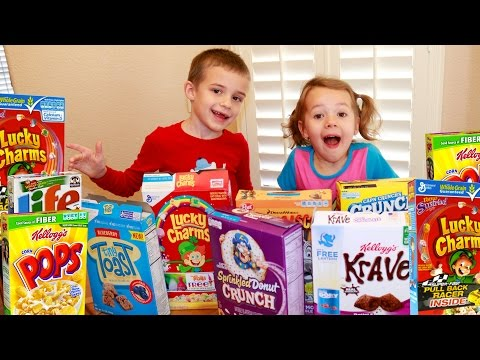 100 Cereals! Family Vlog 100 Days of School Party Counting to 100 + Toy Hunt LOL Surprise Dolls