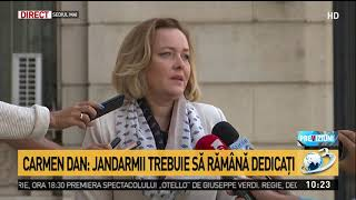Carmen Dan, despre dosarul șefilor din Jandarmerie