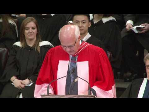 Peter Mansbridge, Convocation 2017 Honorary Degree recipient