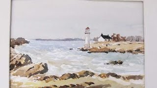 watercolor seascapes with alan Owen