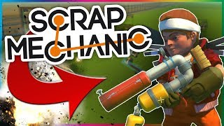 BATTLE AÉRIENNE POTATO GUN !!! - SCRAP MECHANIC FR