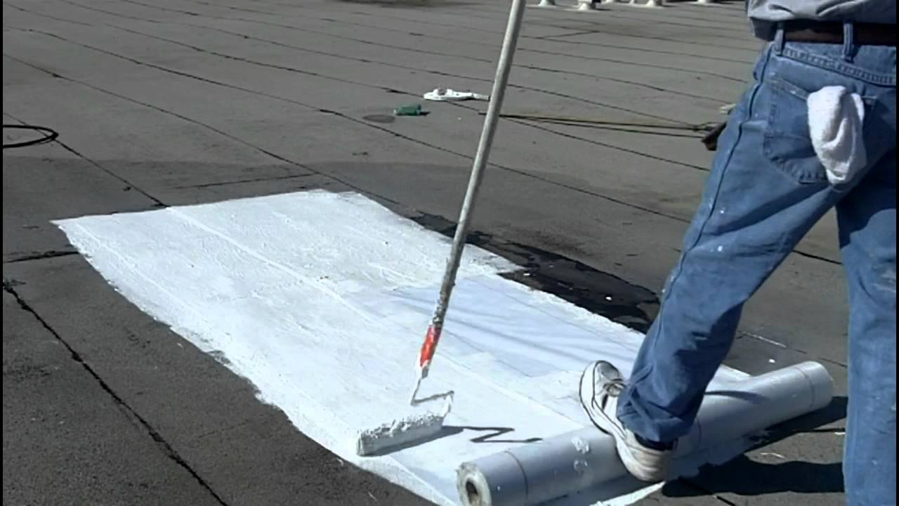 how to install elastomeric roof coating flat roofs youtube