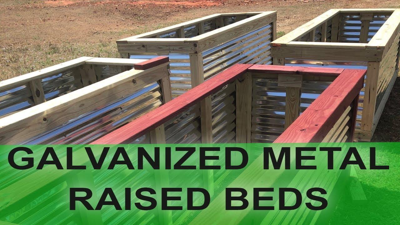 How To Build Galvanized Metal Raised Garden Beds Youtube