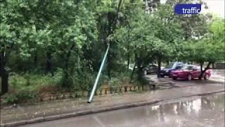 Стълб падна в Пловдив