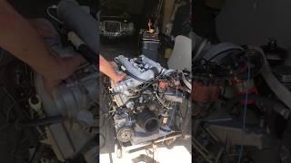 MERCEDES BENZ 300SEL 6.3 V8 Engine start after rebuit W109