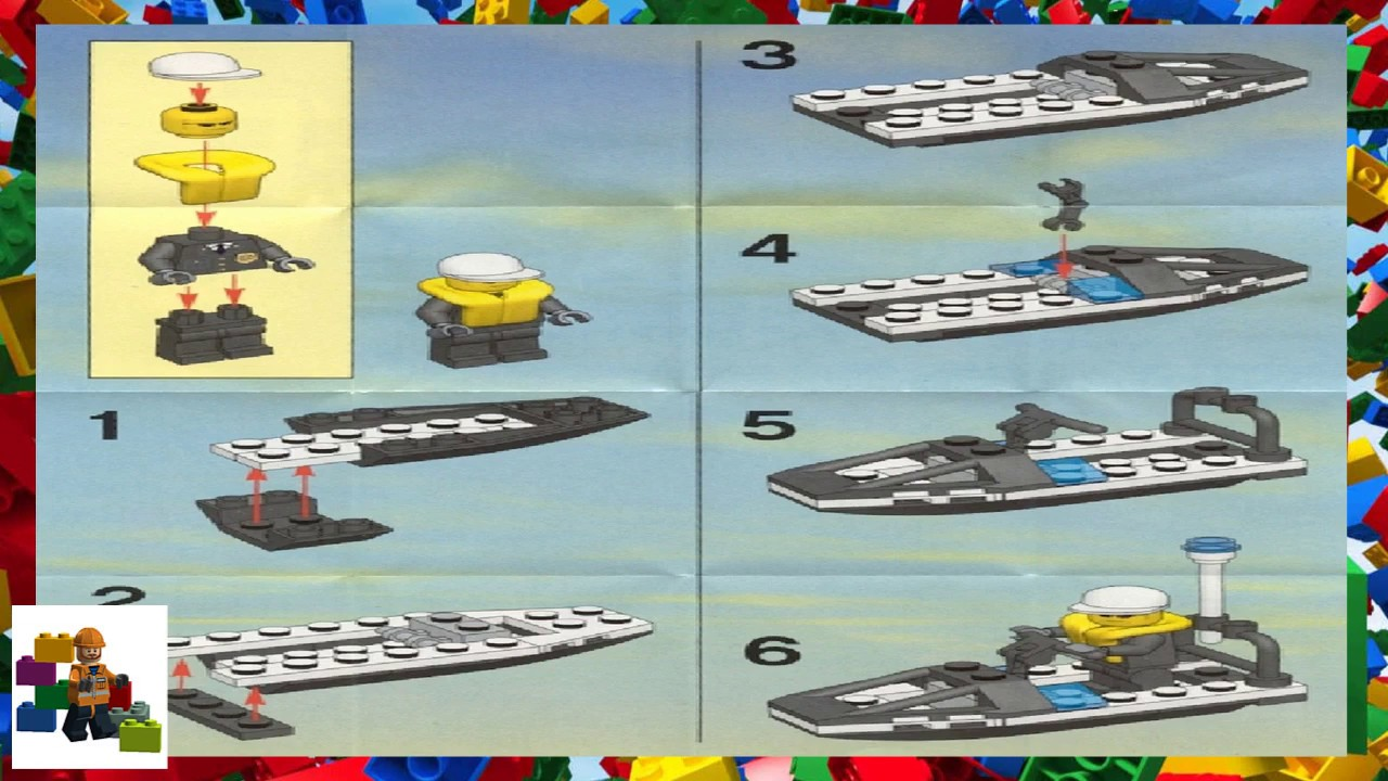 Lego Instructions City Police 4912 Promotional Set Youtube
