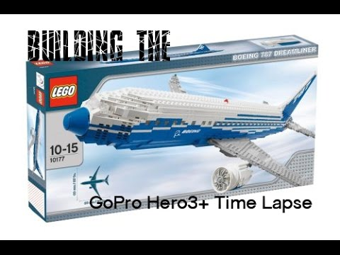GoPro Hero3+ - Time Lapse building Lego Boeing 787 Dreamliner