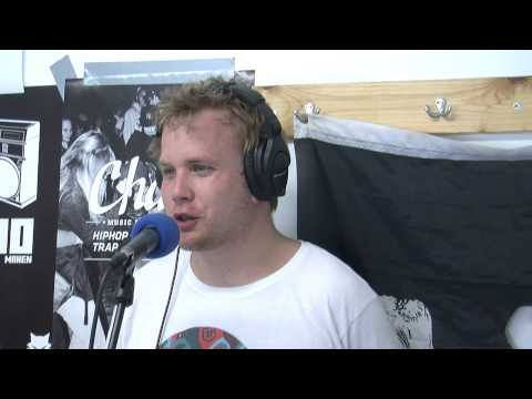 Interview Poldoore for Radio United @ Dour festival 2014
