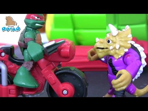 Черепашки Ниндзя Мультик TMNT TURTLES Трансформеры #Игры для детей! Видео для детей