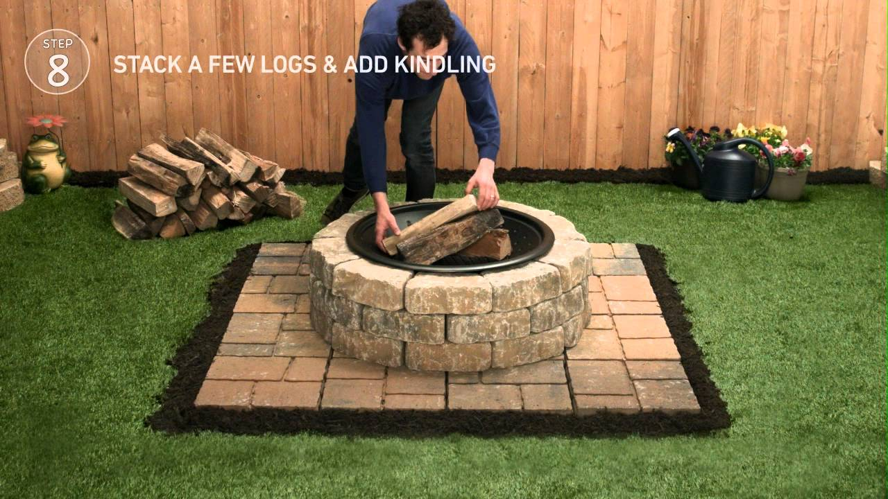 Lowe's Firepit Tap-Thru How-To - YouTube