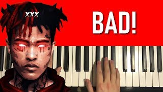Xxxtentacion BAD Piano Tutorial Lesson.mp3