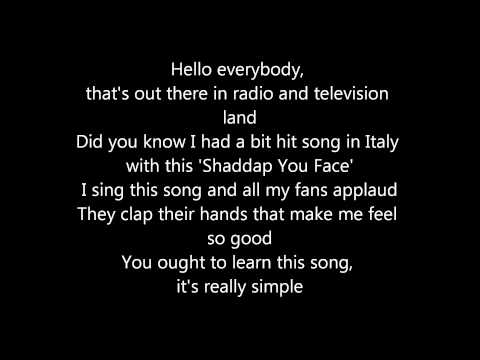 Shaddap you face - Joe Dolce Lyrics