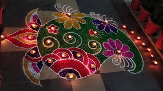Rangoli Made By me On Pious Occasion of Deepawali.