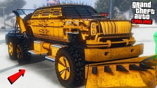 "STRONGEST DEMOLITION TRUCK ""GTA ARENA WAR DLC UPDATE!"" - GTA Online"