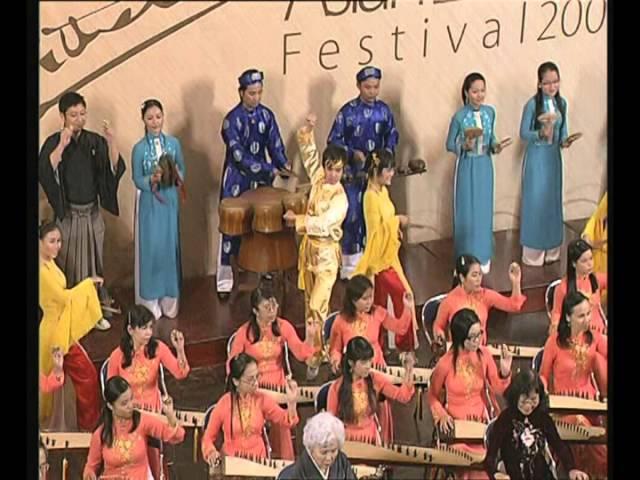 [Tiếng Hát Quê Huơng] - Hòa tấu Lý Ngựa Ô - Tiết mục bế mạc Nhạc hội Đàn Tranh Châu Á 2008 #1