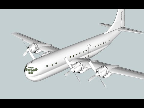 Building a Boeing 377 Stratocruiser airliner model using the Google Sketchup 8