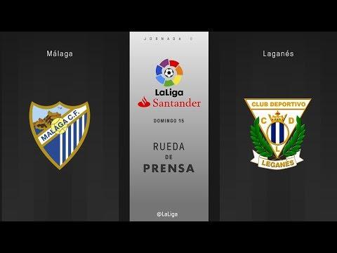 Rueda de prensa Málaga vs Leganés