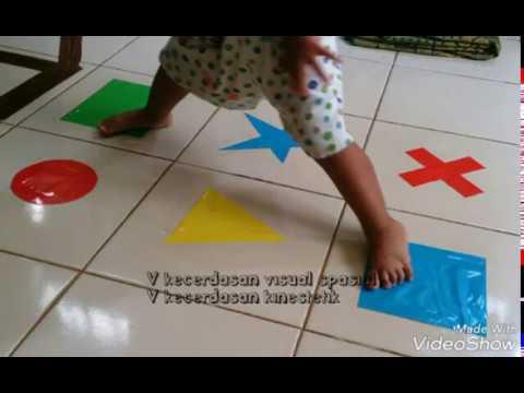 Mengenal Bentuk dengan Bermain Lompat Geometri
