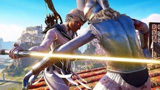 Assassin's Creed Odyssey Celestial Revenant Combat & Brutal Isu Battles