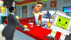 GETTING JOBS AT A SPOOKY GAS STATION?! (Garry's Mod Gameplay Gmod Roleplay) Job Simulator in Gmod!