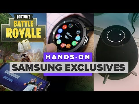 Hands-on: Samsung exclusives including Fortnite, the Watch and Galaxy Home speaker