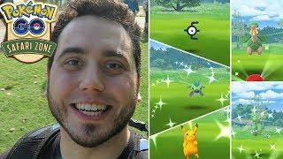 MY BEST SHINY DAY EVER! ✨Montreal Safari Zone - Pokemon GO!