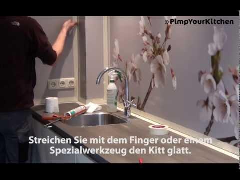 Montage solid Platte Küchenrückwand Pimpyourkitchen.de
