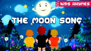 MOON SONG | Moon shape and body | Nursery Rhymes & Kids Songs | Best song for kids