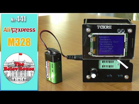 Измеряет частоту и включает телевизор - обзор транзистор-тестера M328 на AliExpress