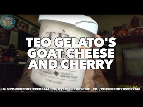 ICE CREAM REVIEW: Teo Gelato's Goat Cheese & Cherry