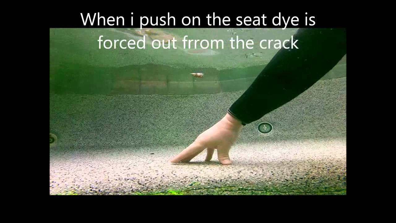 Crack in spa seat - YouTube